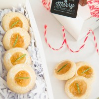 Christmas Cookies:  Rosemary Pear Thumbprint Cookie