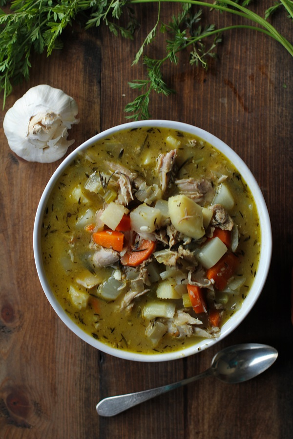 Paleo Turkey Soup with Root Vegetables