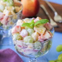 Fruit Salad with Lemon Coconut Whipped Cream