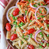 Pasta Salad with Lemon Poppy Seed Dressing