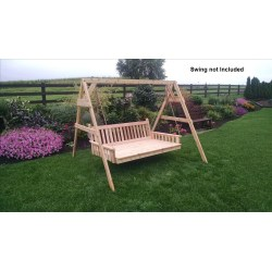 Multipurpose Stand Porch Swing Item 806c 6ft A Frame Swing Stand 453c 6 Swing Bed Unfinished Porch Swing Chair Stand Amazon houzz 01 Porch Swing With Stand