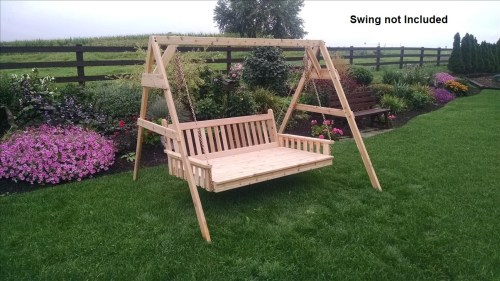 Multipurpose Stand Porch Swing Item 806c 6ft A Frame Swing Stand 453c 6 Swing Bed Unfinished Porch Swing Chair Stand Amazon