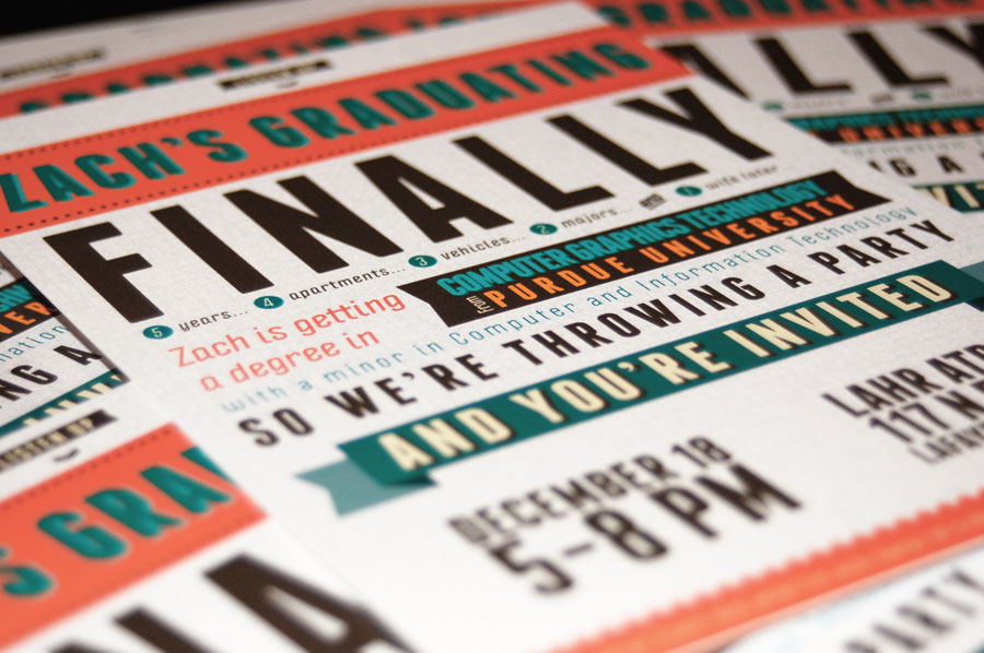 Free Typography-Style College Graduation Invitation InDesign Template