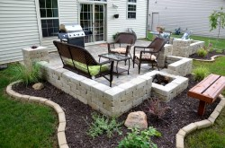 Grand Diy Backyard Stone Paver Patio Tutorial Diy Backyard Paver Patio Outdoor Oasis Tutorial Rodimels Diy Backyard Patio Projects Diy Backyard Patio On A Budget