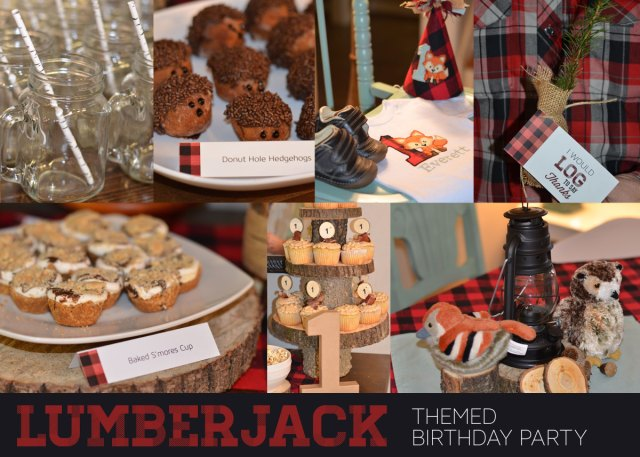 Lumberjack themed birthday party ideas