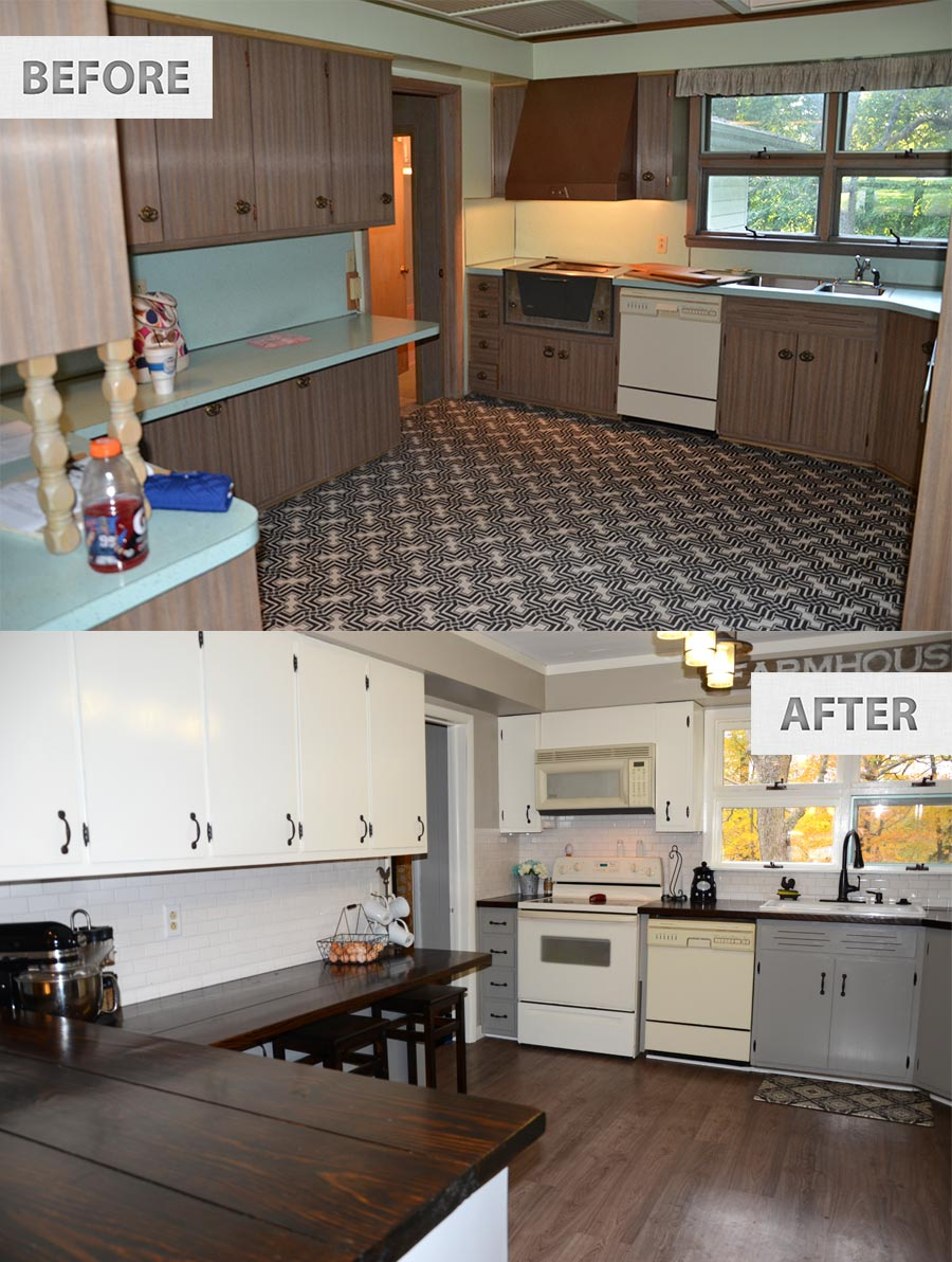 kitchen remodel on budget budget kitchen remodel Farmhouse Renovation Kitchen