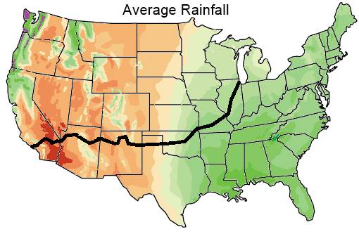 map of annual rainfall