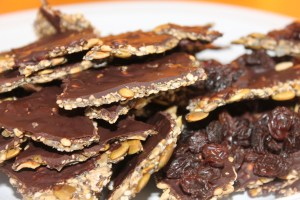 When the chocolate is firm, break the crackers into serving-size pieces. I'll let YOU determine what a serving is!