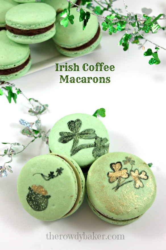 Irish Coffee Macarons from The Rowdy Baker