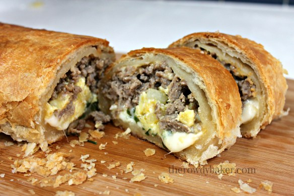 Sausage Breakfast Strudel - The Rowdy Baker