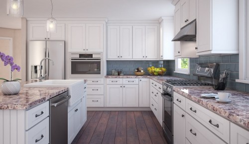 Medium Of White Cabinets Kitchen