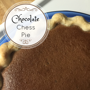 Family Favorite: Chocolate Chess Pie