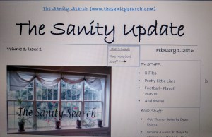 Volume 1, Issue 1 of The Sanity Update