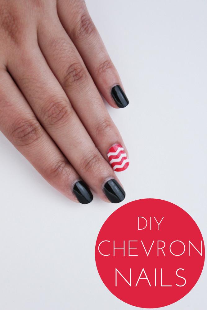 diy chevron nails thesassylife