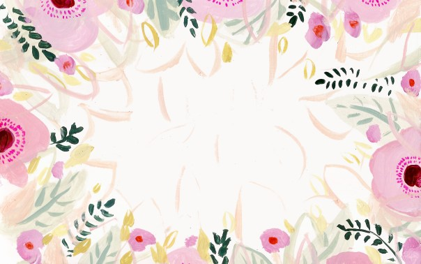 Pink Flower Desktop Background by KT smail