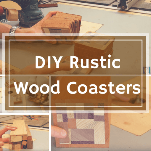 How to make rustic drink coasters from scrap wood for Diy rustic coasters