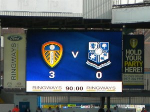 Picture by DTS1970@Twitter showing the final score on the big screen.