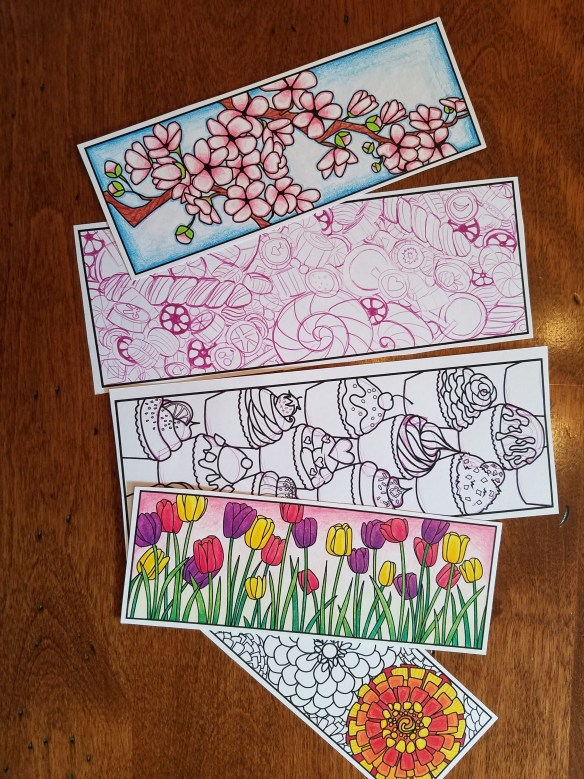 5 Coloring Bookmarks