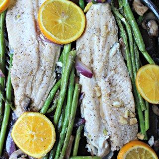 One-Pan Orange-Ginger Glazed Trout with Vegetables