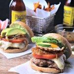 Loaded Cheeseburgers with Lemon-Basil Aioli