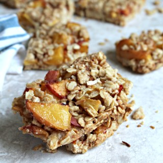 Peach Oatmeal Crumb Bars