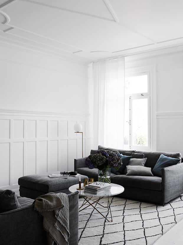 Home tour - a Swedish house with marble and brass | These Four Walls blog