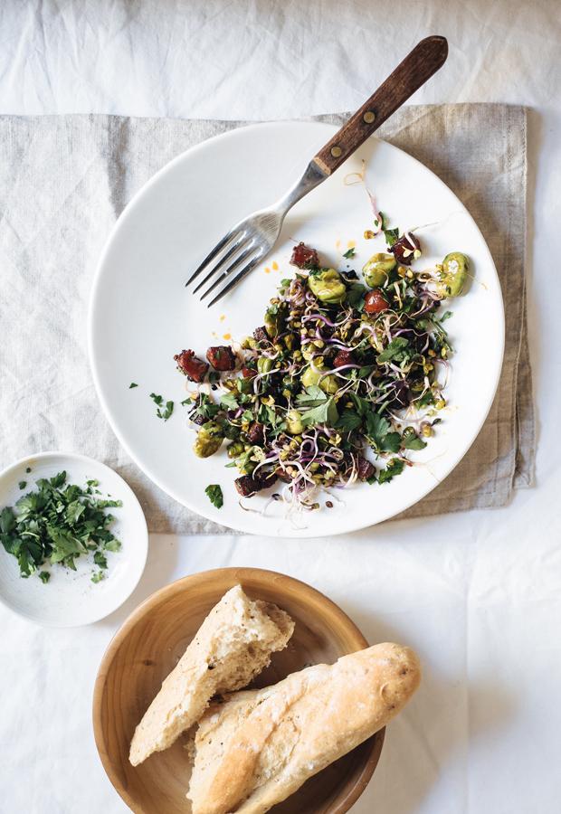 Recipe | Chorizo, broad beans & peas | These Four Walls blog