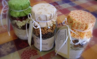 Muffin Mixes ready to give as a gift.
