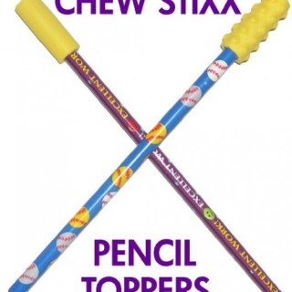 Chew Stixx Pencil Toppers (Oral Sensory Tools)