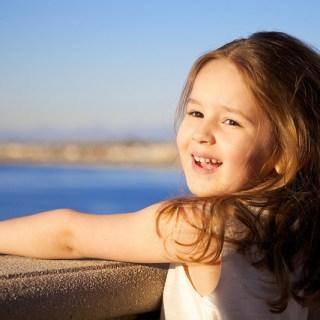 happy confident girl