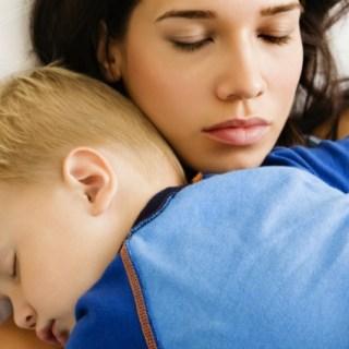 mom cuddling