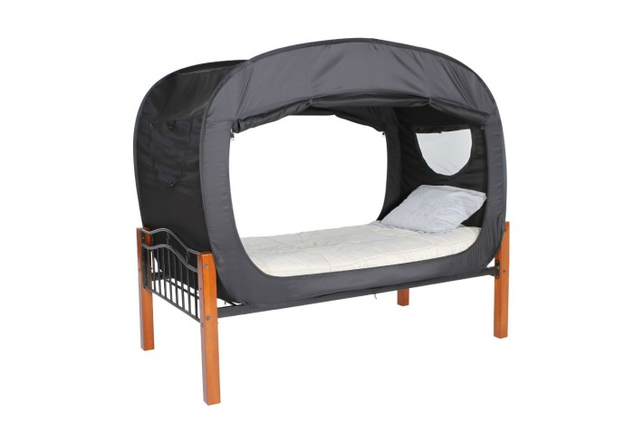 privacy pop bed tent the sensory spectrum. Black Bedroom Furniture Sets. Home Design Ideas