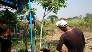 Digging a well in Myanmar
