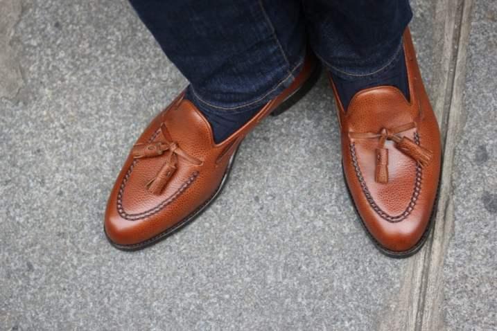 Septieme Largeur grained tassel loafers