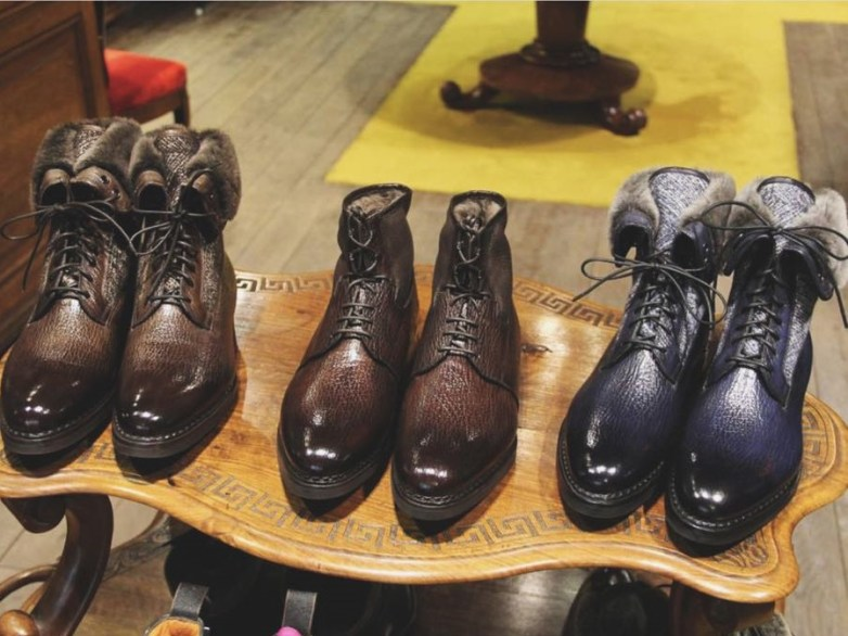 Santoni boots, courtesy of Boutique Upper Shoes