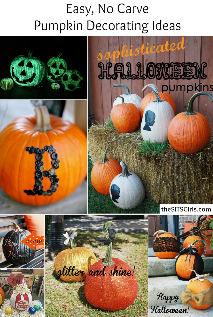 No Carve Pumpkin Decorating Ideas   Pumpkin Painting Easy  no carve pumpkin decorating ideas  These tutorials make Halloween  decor easy and fun