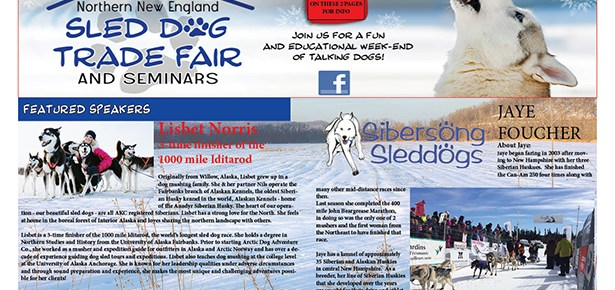 Coverage Of Northern New England Sled Dog Trade Fair