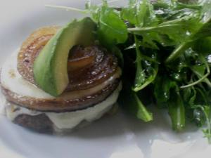 Pastured cheeseburger with avocado