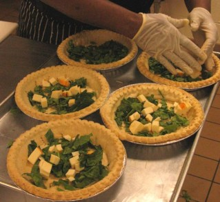 Quiche from scratch at the Jesuit Academy