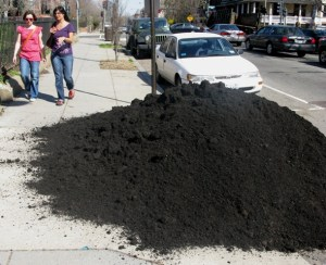 Commercial-grade compost from local food waste
