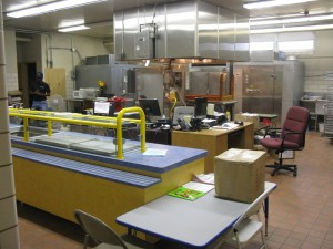 The kitchen at Tyler Elementary