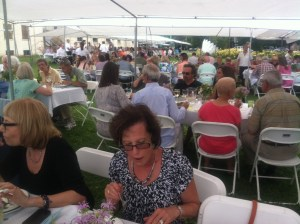 Dinner al fresco at Salem Community Center