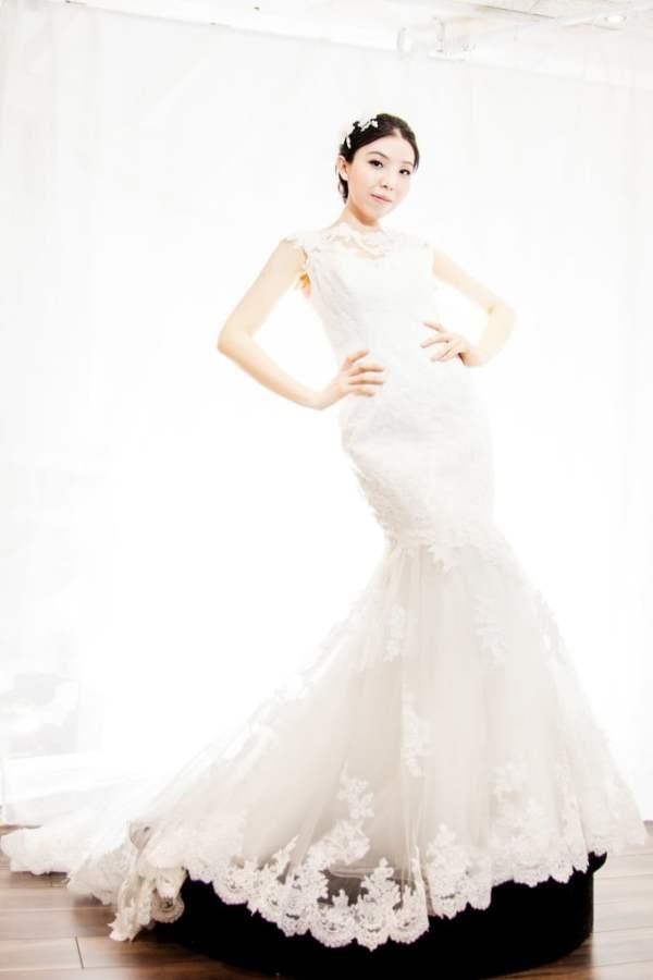 Toni Bridal Dress display shoot