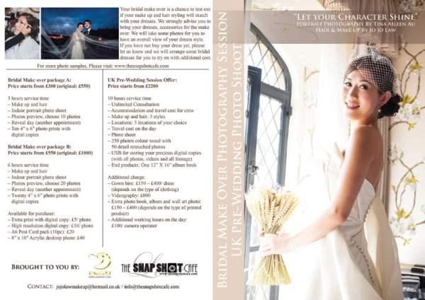 Bridal Portrait, Bridal make over, UK pre-wedding photo shoot