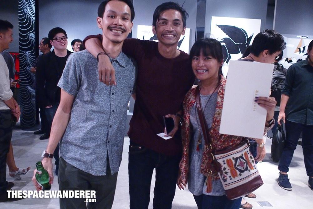 Three awesome artists in one frame. Zaky Arifin, Nady Azhry, Diela Maharanie