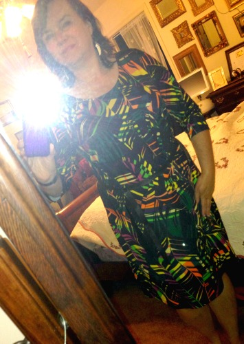 I never would have picked this dress for work, but I got compliments from almost a dozen people. The pattern was bright and the dress comfortable and work appropriate.