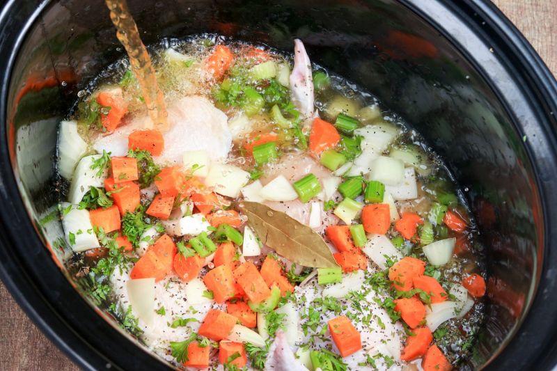 Large Of Crack Chicken Noodle Soup