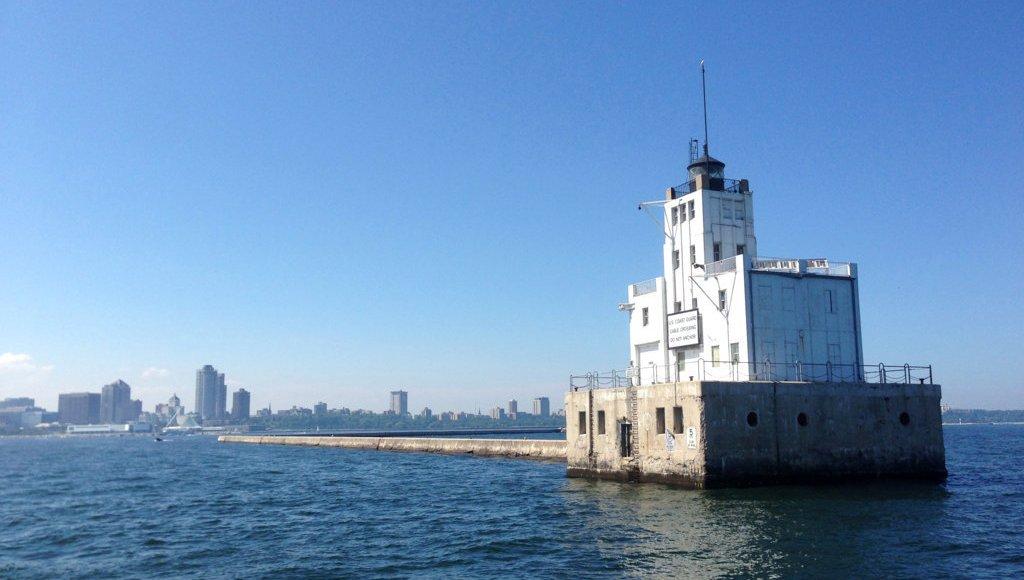 Milwaukee Skyline from Lake Michigan sd