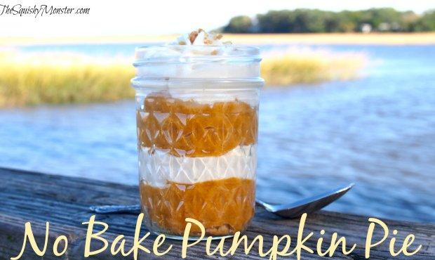 No Bake Pumpkin Pie Trifle Mason Jar
