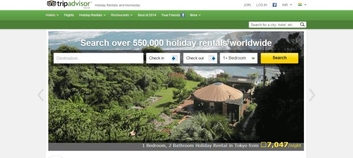 TripAdvisor Launches Holiday Rentals on TripAdvisor Holiday Rental India